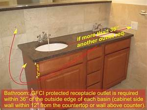 bathroom gfci receptacles and electrical components With bathroom electrical code requirements