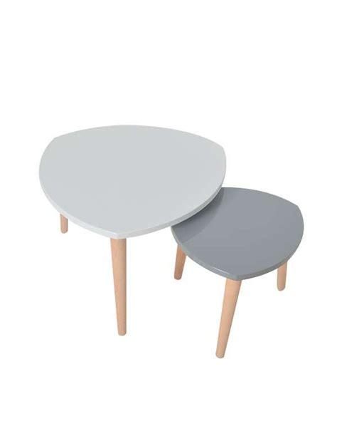 cuisine blanc et noyer table basse gigogne blanc gris le bois chez vous