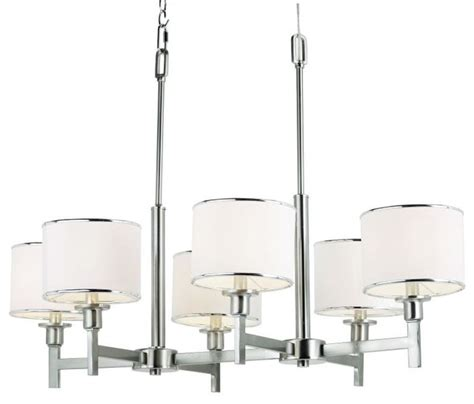 brushed nickel drum chandelier six light brushed nickel drum shade chandelier