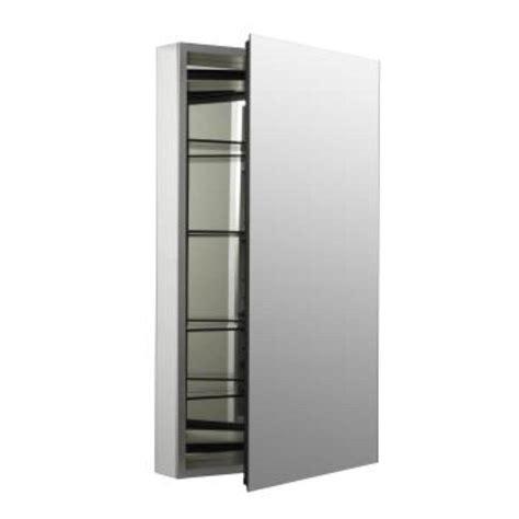 medicine cabinet for home kohler catalan 20 1 8 in w x 36 in h aluminum single