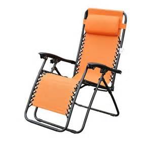 orange zero anti gravity lounge chair folding patio
