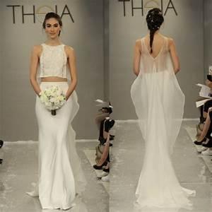 10 pretty perfect crop top wedding dresses aisle perfect With crop wedding dress