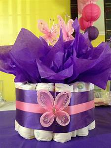 Pink & Purple Butterfly Themed Baby Shower Creative