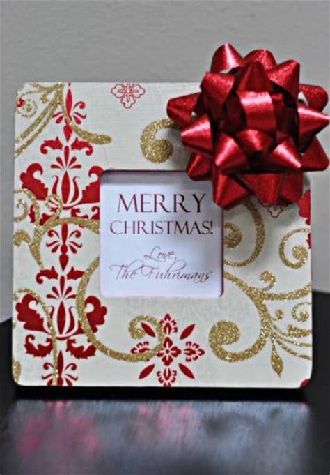 christmas present frame fun family crafts