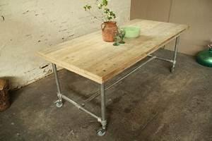 Tisch Rollen Klappbar : tisch mit rollen im industriedesign esstisch mit tischbeinen aus metall l nge 180 cm kaufen ~ Markanthonyermac.com Haus und Dekorationen