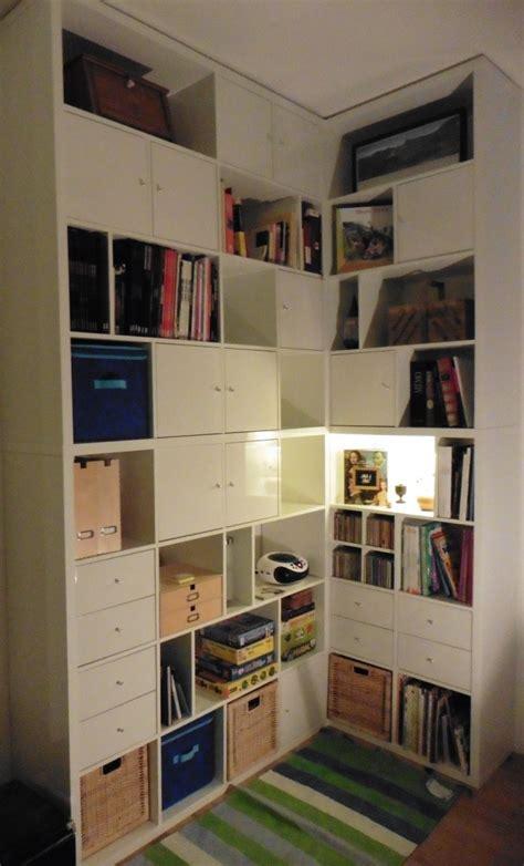 placard de cuisine haut une bibliothèque d 39 angle sur mesure avec kallax