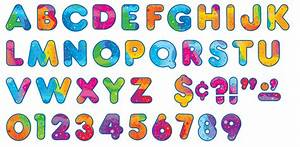 71 classroom display board ready letters colour splash 4 With ready letters