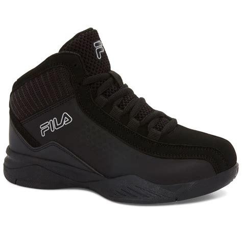 fila boys entrapment  basketball shoes black bobs stores