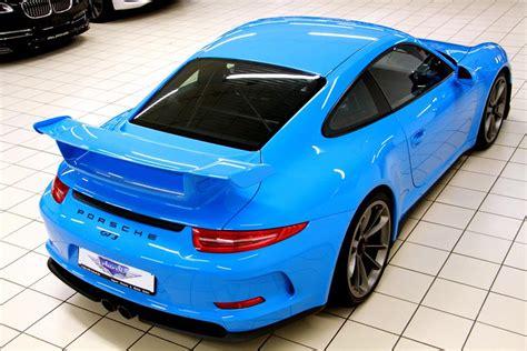 porsche blue gt3 eye candy riviera blue porsche 991 gt3