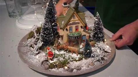 miniatur landschaft mit lemax gestalten youtube