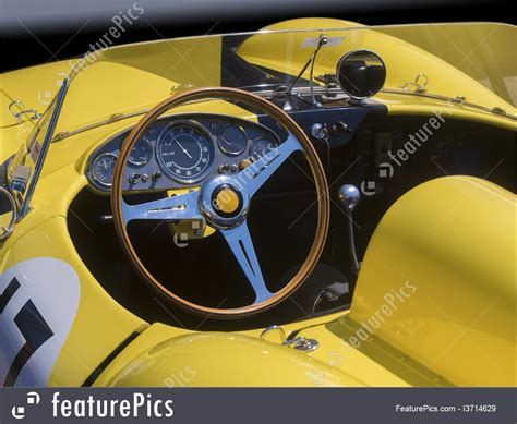 Picture Of Race Car Dashboard And Cockpit Interior