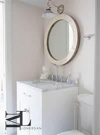 powder room mirror Round Capiz Shell Powder Room Mirror - Transitional - Bathroom