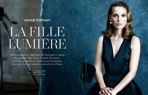 Visuelle Natalie Portman For Elle France Mathieu Cesar