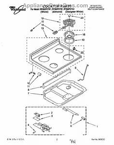 Parts For Whirlpool Rf365pxyq1  Cooktop  Literature Parts