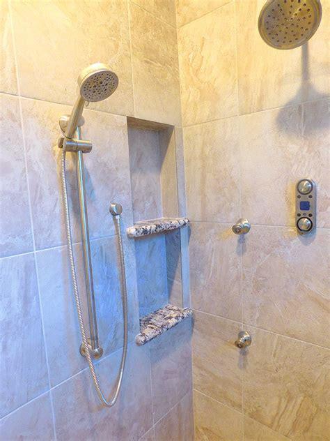 huge walk  master shower remodel everhart construction