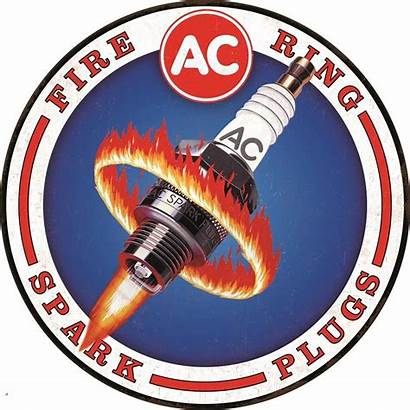 Delco Spark Plug Plugs Tin Round Fire
