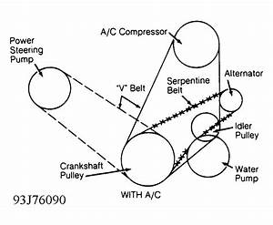 1993 Dodge Dakota Serpentine Belt Routing And Timing Belt Diagrams