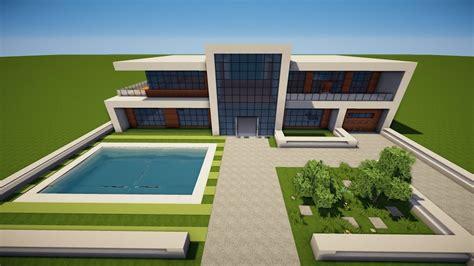 Moderne Kleine Häuser Minecraft by Minecraft Gro 223 Es Modernes Haus Bauen Tutorial Haus 96