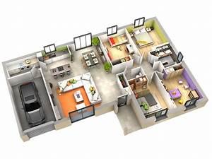 Plan Interieur Maison : plan maison contemporaine amande terre de soleil villas club ~ Melissatoandfro.com Idées de Décoration