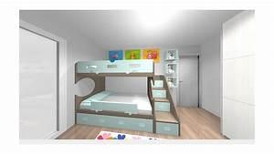 chambre enfant avec lit superpose 2 coffres personnalisee With tapis chambre bébé avec canapé lit superposé ikea