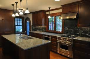 Kitchen Design Ideas with Dark Wood Cabinets