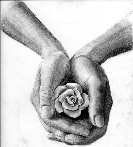 sketch rose  hand  style   scribble art