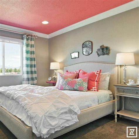 cute tweenteen bedroom   pop  coral painted