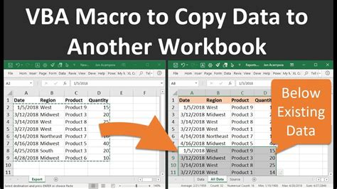 vba macro  copy data   workbook  excel
