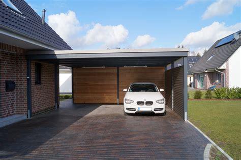 Carport Holz Modern by Beispiele Moderner Doppelcarport Carporthaus