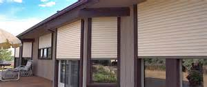 Custom Roll Up Patio Shades by Exterior Rolling Shutters Innovative Openings