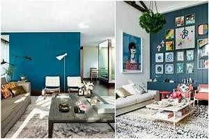 osez une deco couleur bleu canard dans votre interieur With beautiful couleur pour mur salon 3 osez une deco couleur bleu canard dans votre interieur