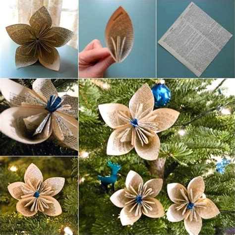 how to make christmas ornaments creative ideas diy vintage origami kusudama christmas ornaments