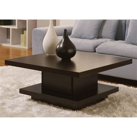 Coffee tables are the perfect way to style your living room without spending a fortune. Contemporary Modern wood coffee tables unique square style with storage - Tables