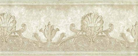 ivory shells wallpaper border nautical scroll bathroom