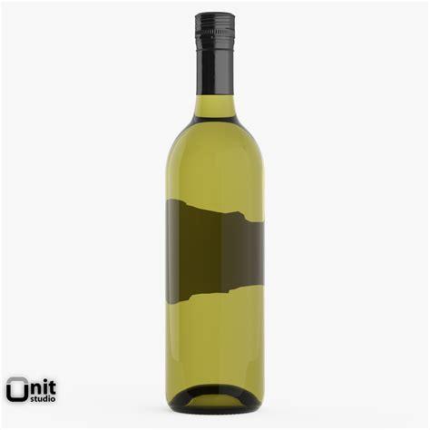 wine bottle chardonnay white wine bottle 3d model max obj 3ds fbx dwg