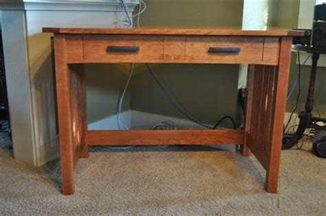 mission style desk plans  woodworking