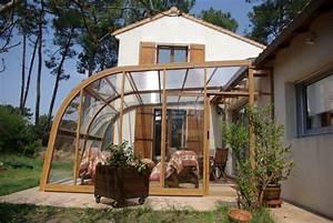 poolabri abri terrasse relevable With veranda sur terrasse bois