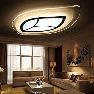 Wohnzimmer Led Lampen : led deckenleuchte modern blatt design im wohnzimmer ~ Watch28wear.com Haus und Dekorationen
