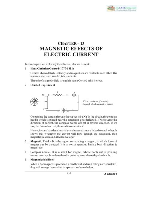 10 science notes 13 magnetic effects of electric current 1