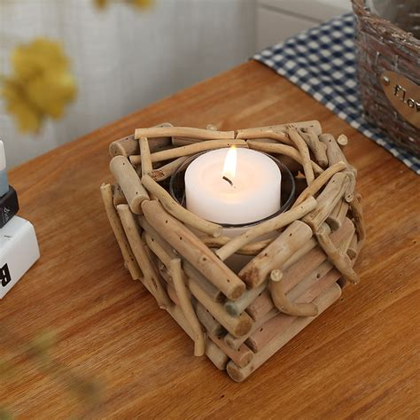 modern handmade wooden candle holders  candle wood