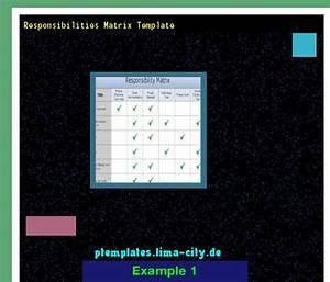 Responsibilities Matrix Template  Powerpoint Templates