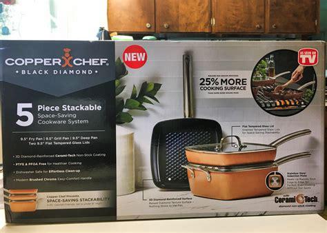 copper chef black diamond nonstick cookware review