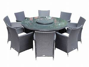 8 Cambridge chairs with large round table dining set with ...