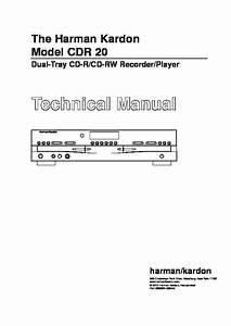 Harman Kardon Cdr 20  Serv Man13  Service Manual  U2014 View