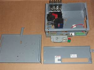 Square D Model 6 30 Amp 240v Fusible Fused Half Feeder Mcc