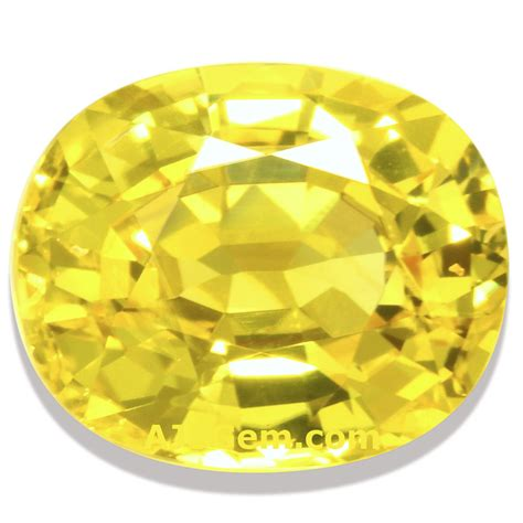 Yellow Safire yellow sapphire gemstone information at ajs gems