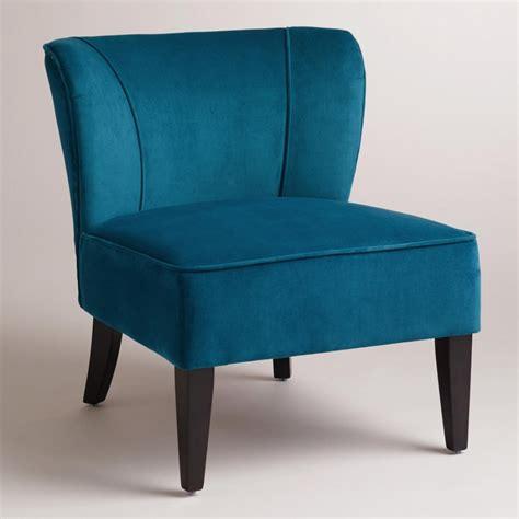 blue velvet living room chair modern house