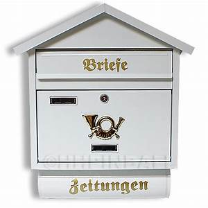 Deutsche Post Briefkasten Kaufen : briefkasten briefk sten zeitungsfach postkasten ~ Michelbontemps.com Haus und Dekorationen