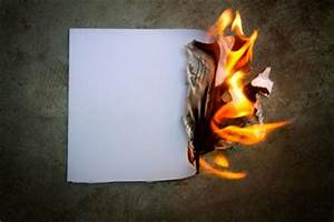 warning about burning documents With burning documents