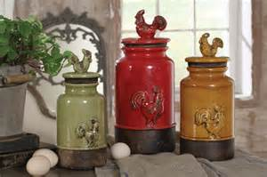 rustic kitchen canisters 3pc kitchen storage rooster canisters rustic vintage crackled country decor ebay